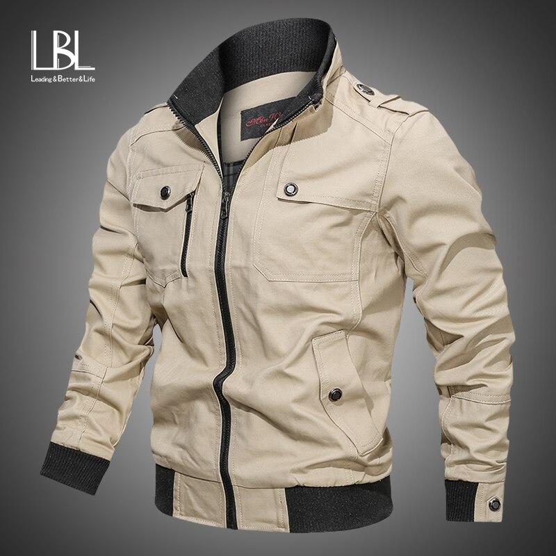 Outono jaqueta do exército dos homens 2020 jaqueta masculina casual sólido com capuz jaquetas militares dos homens moda zíper fino ajuste primavera roupas