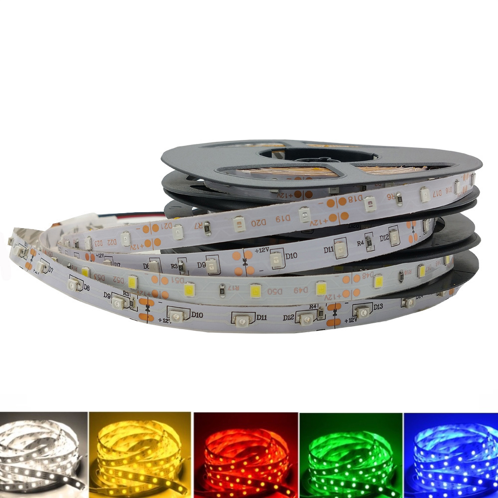 Led Light Strip Tape DC 12V 2835 RGB 1M 2M 3M 4M 5M 60LED/M   SMD Flexible TV Backlight Led Strip Lamp
