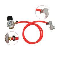 CO2 Gas Regulator Gas Line Corny Cornelius Keg Charger Ball Lock Regulator Flow Gas Regulator Flowmeter Gauge Pressure Reducer