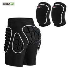 WOSAWE шорты для скейтбординга с защитой от воздействия на бедра, утепленные шорты с подкладкой из ЭВА для сноуборда, катания на лыжах, попа, защитная накладка
