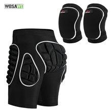Шорты wosawe защитные для бедер утепленные спортивные штаны