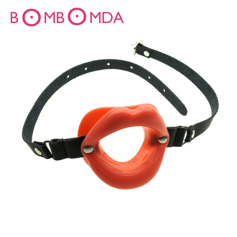 Sex Toy For Couples Erotic Games Rubber Opening Mouth Gag Sexy Lip Oral Restraints Fetish Slave Tools Adult Leather Gag O3