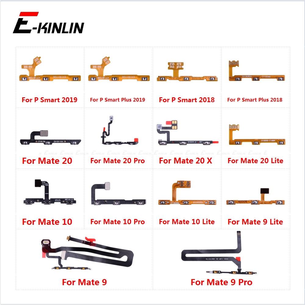 Power ON OFF Mute Switch Control Key Volume Button Flex Cable For HuaWei Mate 20 X 10 9 Pro Lite P Smart Plus 2019 Parts