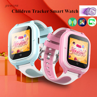 4G Kids Tracker Watch GPS LBS WIFI Location Remote Monitoring Video Call with Android IOS Fashion Children Smart Clock DF55