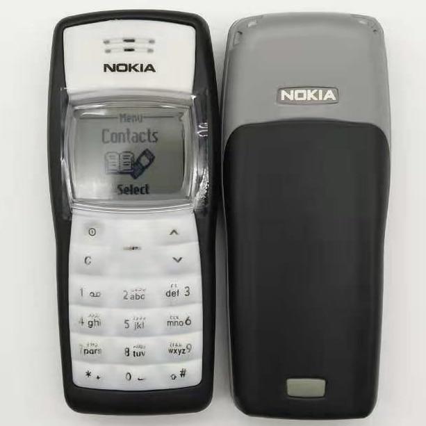 Самый дешевый оригинальный мобильный телефон Nokia 1100 разблокированный GSM900/1800 MHz мобильный телефон с несколькими языками 1 год гарантии отремонтированный