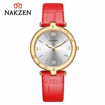 NAKZEN Luxury Quartz Watch Women Casual Wristwatch Leather Ladies Watch Top Brand Clock Life Waterproof Montre Femme Reloj Mujer new longbo luxury brand women watch gold ceramic bracelet lady quartz watch waterproof ladies clock relojes mujer montre femme