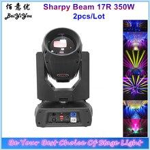 2 pièces haute lumineuse 17R 350W faisceau lumière principale mobile DMX Focus faisceau 380 DJ éclairage de scène 2 rotation prisme Disco lumière avec boîtier 2In1