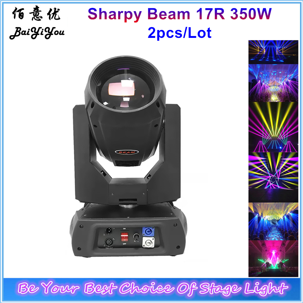 2pcs High Bright 17R 350W Beam Moving Head Light DMX Focus Beam 380 DJ Stage Lighting 2 Rotate Prism Disco Light With 2In1 CaseStage Lighting Effect   -