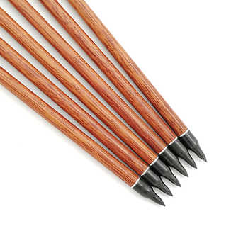 Inals Archery Wood Skin Carbon Arrows Spine 400 500 600 ID6.2mm Shaft Turkey Feathers Compound Traditional Recurve Bow Hunting