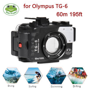 Seafrogs Housing Camera TG-6 Olympus Waterproof Diving-Case-Bag for 60m 195ft Polycarbonate
