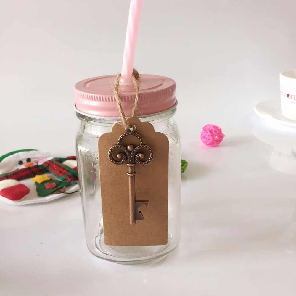 50pcs בקבוק פותחן עם כרטיס תגי חתונה מזכרות מתנות אורח פסטיבל מפלגה לטובת חתונת דקור