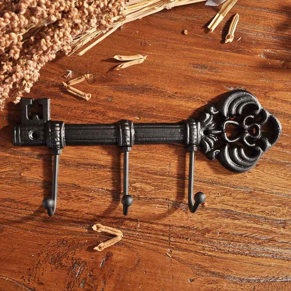 Colgador de Pared Vintage 3 Ganchos didatecar Soporte para Llaves de Hierro Fundido