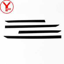ABS black body cladding For Toyota FORTUNER HILUX SW4 2016 2017 2018 2019 Car Styling Side Door Body Trim accessories YCSUNZ