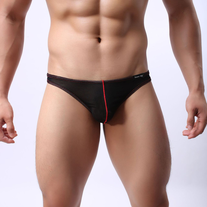 2XL <font><b>Sexy</b></font> Men Briefs Jockstrap Ice Silk <font><b>Gay</b></font> <font><b>Underwear</b></font> Tanga Hombre Sexi Porno Panties <font><b>Sexy</b></font> Penis Pouch Ultra-thin <font><b>Sissy</b></font> Thongs image