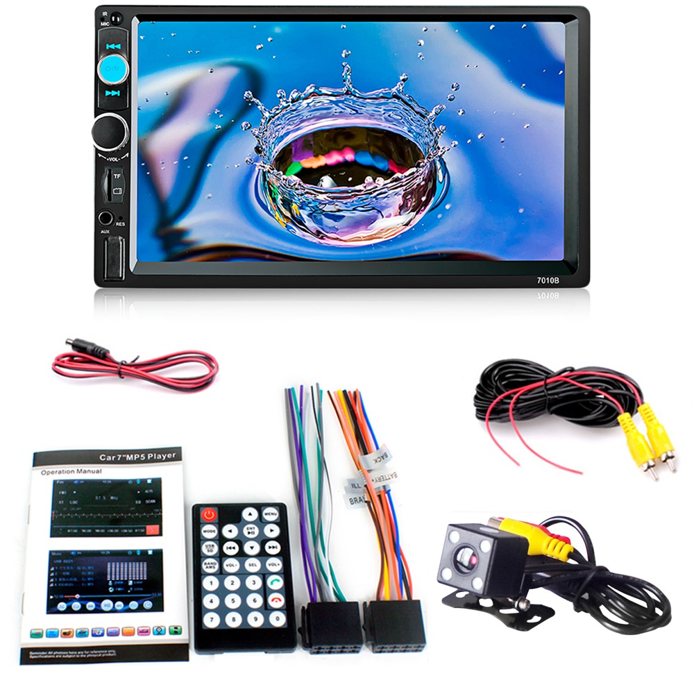 <font><b>7010B</b></font> 12V MP5 Player 7 Inch Bluetooth Car Audio Stereo Remote Controller Subwoofer Multi-protection with Rear View Camera Hotest image