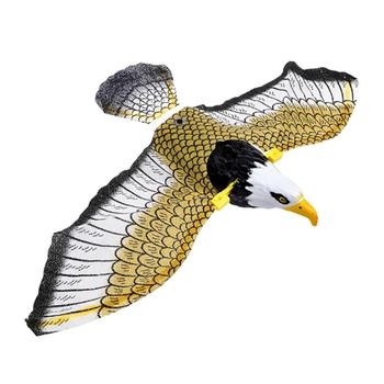 Luminous ptak odstraszający wiszący orzeł z muzyką latający ptak Scarer ogród dekoracja przenośny latający ptak tanie i dobre opinie CN (pochodzenie) Bird