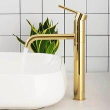Позолоченный латунный кран для ванной комнаты на одно отверстие