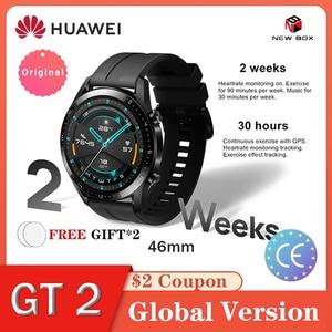 HUAWEI Watch GT2/GT2e Global Version 46mm GPS Bluetooth 14 Days Life Waterproof Blood Oxygen Heart Rate Tracker ساعة هواوي שע