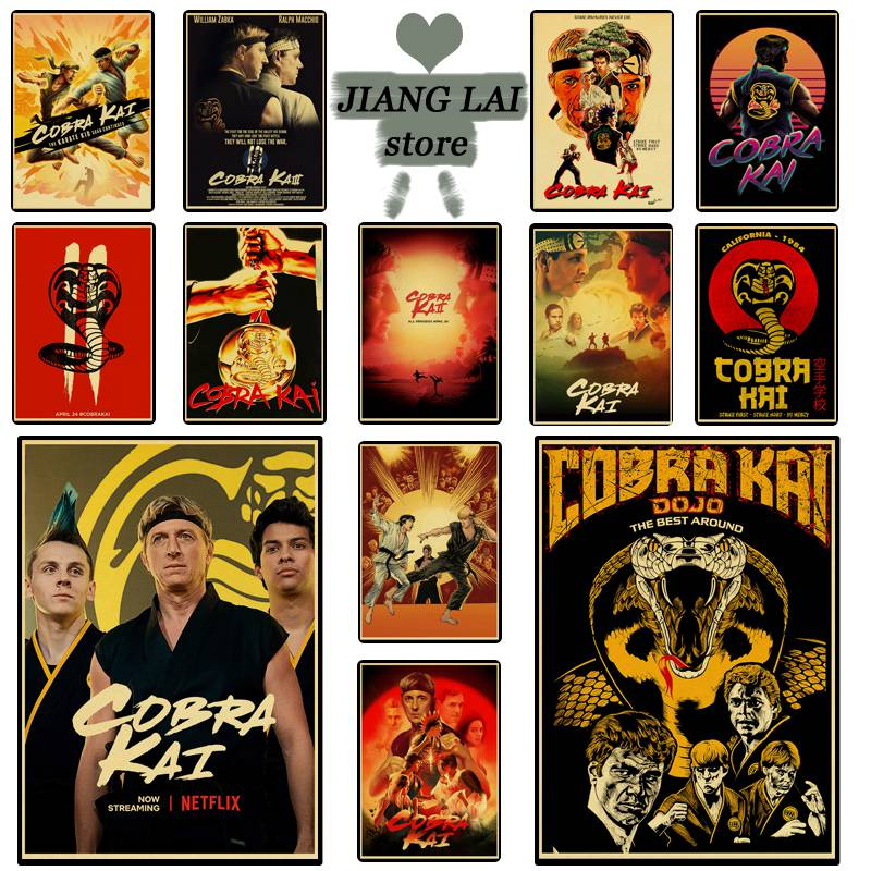Cobra Kai  retro posters are used for interior decoration high-quality kraft paper poster wall stickers