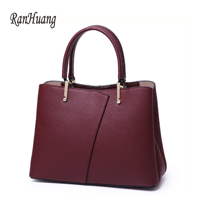 RanHuang New Arrive 2019 Women's Genuine Leather Handbags Fashion Handbags High Quality Luxury Handbags Cow Leather Shoulder Bag