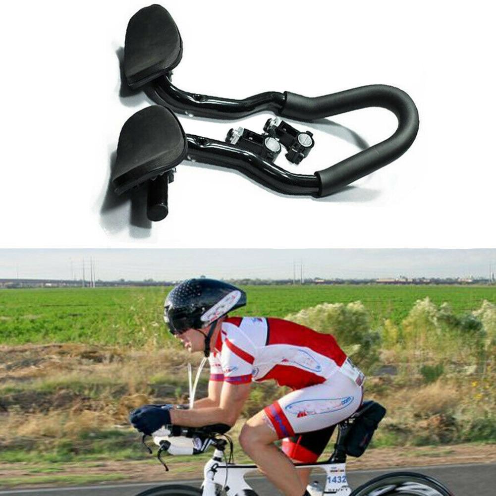 Mountain Bicycle Aero Bar Road Bike MTB Triathlon Arm Rest Handle Alloy Aerobar