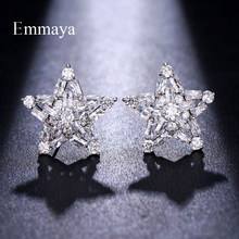 Emmaya Shiny Decoration For Women Star Shape With AAA Cubic Zircon New Arrival Earrings In Gathering Banquet(China)