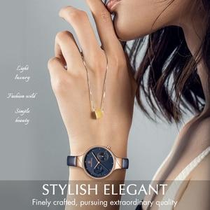 Image 2 - นาฬิกาผู้หญิงหรูหรา NAVIFORCE แบรนด์แฟชั่นควอตซ์ LADIES Rhinestone นาฬิกานาฬิกาข้อมือนาฬิกาสีฟ้านาฬิกา Relogio Feminino
