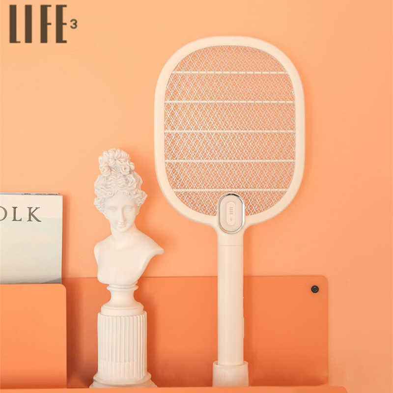 Mijia 3life Electric Mosquito Swatter 3Layer Mosquito Dispeller Rechargeable LED Electric Insect Bug Fly Mosquito Killer Racket