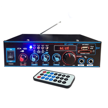800W 12V 220V HIFI 2CH Car Audio Stereo Power Amplifier Blue