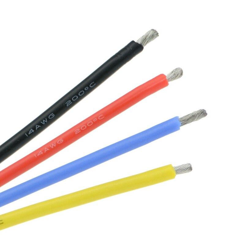 12awg 14awg 16 awg 18awg 20awg 22awg 24awg 26awg 28awg 30 awg fio de silicone flexível resistência a alta temperatura para rc