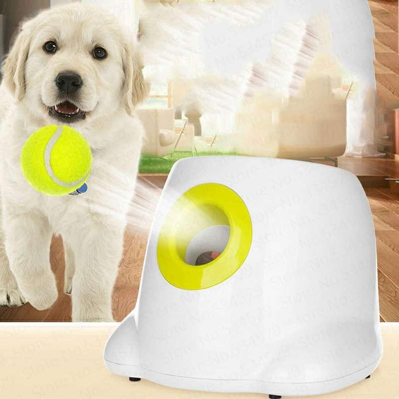 Pet thrower 3 launch ball area dog serve machine interactive toy tennis throwing machine Dog pet tennis automatic transmitter