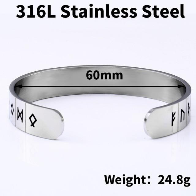 Bracelet acier inoxydable Viking garde du corps 6