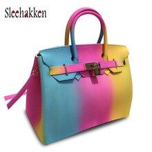 PVC Jelly bag Sac a Main New Rainbow handbag Woman Shoulder for 2019 luxury handbags Bags designer tote