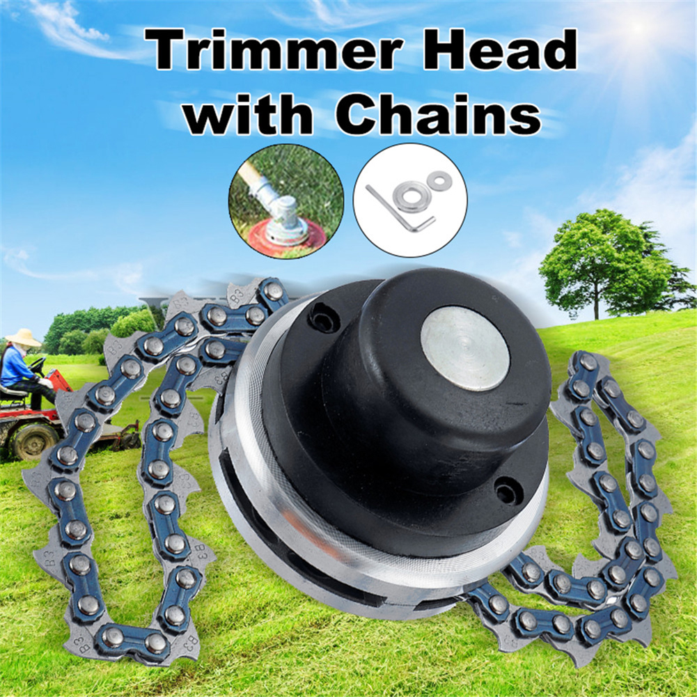 Universal 65Mn Coil Chain Saw Brush Cutter Garden Grass Trimmer Head With Saw Chain Lawn Mower Parts For Lawnmower