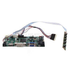 "Image 2 - Controller Board LCD HDMI DVI VGA Audio PC Modul Fahrer DIY Kit 15.6 ""Display B156XW02 1366X768 1ch 6/8 bit 40 Pin Panel"