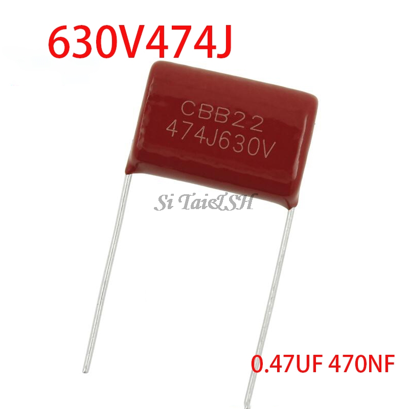 10PCS 630V474J 0.47UF 470NF Pitch 20MM 630V 474 CBB Polypropylene Film Capacitor