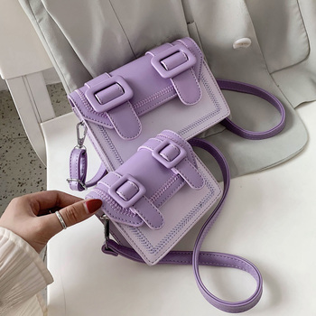 Contrast Color Embroidery Thread Mini Crossbody Bags For Women Female Shoulder Handbags And Purses Lady Cross Body Bag