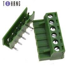 10pcs 5.08 5.08mm KF2EDG PCB Screw Terminal Block Connector PLUG PIN HEADER SOCKET Right Angle 2/3/4PIN