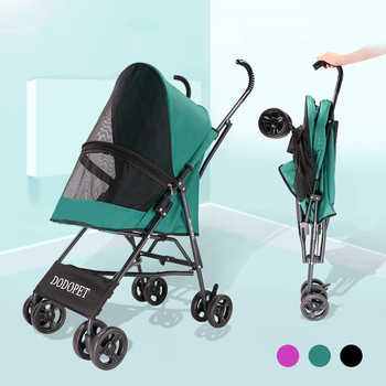 waterproof-oxford-cloth-portable-pet-dog-stroller-foldable-dog-strolling-cart-four-wheel-pet-stroller-lightweight-dog-supplies