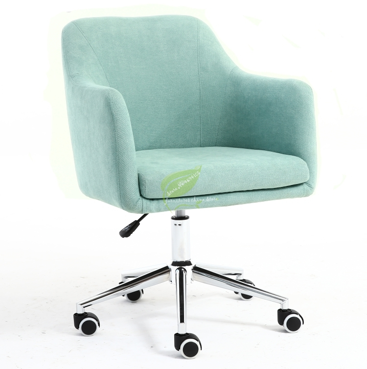 Fully Removable And Wash Nordic Solid Wood Fabric Dining Chair Single Sofa To Discuss Milk Tea Living Room Desk Computer Home Ba
