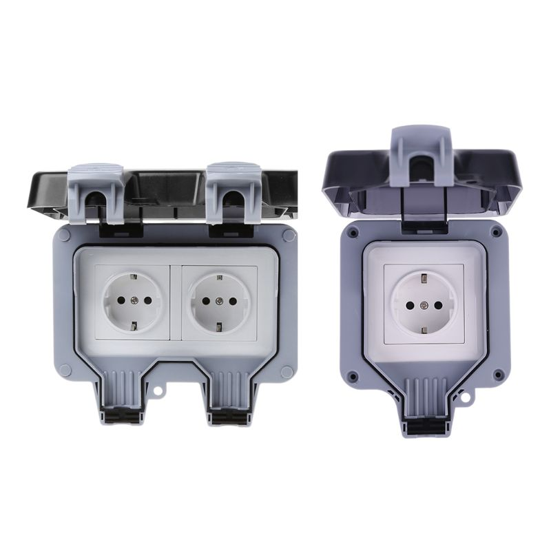 Outdoor Wall Switch Socket IP66 Weather&Dust Proof Power Outlet EU Standard