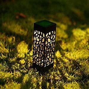 jardim ao ar livre, gramado, luzes led