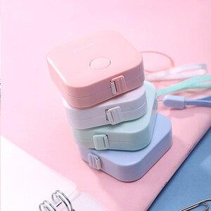 Image 2 - Preciosa regla de Color caramelo, caja de cinta métrica de macarrón, diseño de moda portátil, reglas de papelería para escuela y oficina