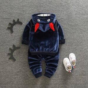 Image 5 - Épaissir chaud bébé vêtements ensembles coccinelle nouvel an noël Snowsuit sweat costume pour fille garçon 3 pièces/ensemble enfants vêtements