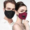 Модная маска для лица с углеродным фильтром, многоразовая Пылезащитная маска, ветрозащитный дымчатый пылезащитный респиратор для косплея ...