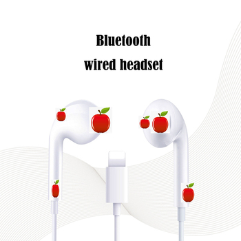 цена на For Apple IPhone 7 In Ear Stereo headset with Microphone Wired Bluetooth Earphone for IPhone 8 7 Plus X XR XS Max 11 Se 2020