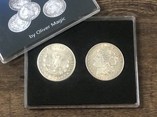 цена Morgan Dollar Shell and Coin Set (4 Coins 1 Shell) by Oliver Magic Close Up Magia Gimmick Prop Magic Tricks Coin Appearing Magie онлайн в 2017 году