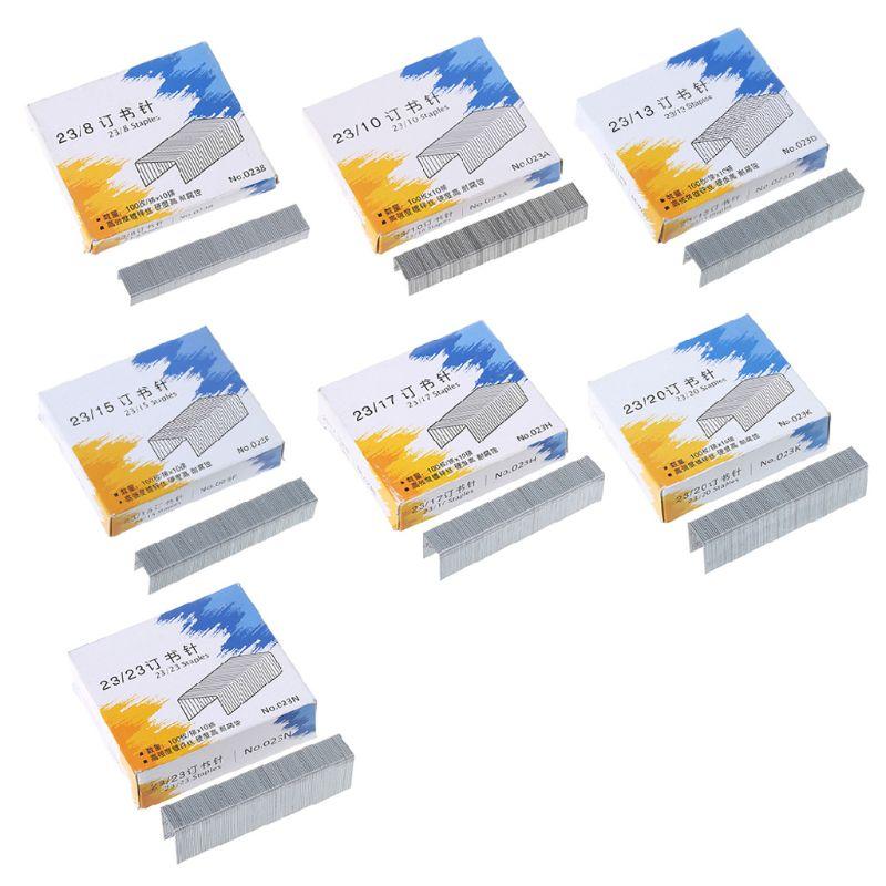 1000Pcs/Box Heavy Duty 23/10 Metal Staples for stapler Office School Supplies Stationery W0YE