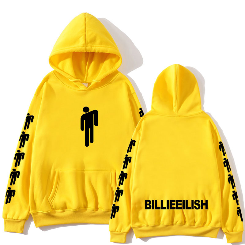 New Hot Billie Eilish Hoodie Men Black Cotton Hoodie Couple Billie Eilish Sweatshirt Simple Keep Warm Women/men Hoodie Clothes