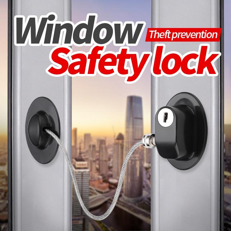 JZPENG  1pc Child Safety Refrigerator Door Lock With 2 Keys Security Window Lock Cabinet Lock Fridge Freezer Lock